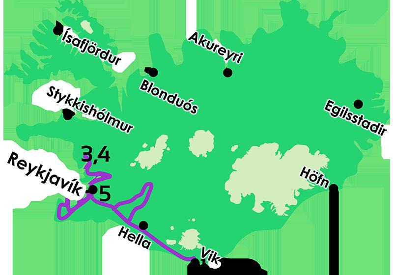 Mapa Islandia Mágica